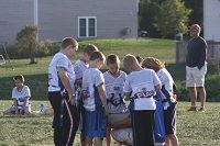 Flag Football Huddle